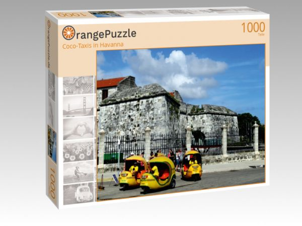 "Puzzle Motiv ""Coco-Taxis in Havanna"" - Puzzle-Schachtel zu 1000 Teile Puzzle"