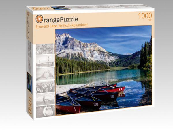 """Puzzle Motiv """"Emerald Lake, Britisch-Kolumbien"""" - Puzzle-Schachtel zu 1000 Teile Puzzle"""