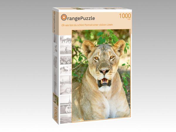 """Puzzle Motiv """"Oh wie bist du schön! Portrait einer stolzen Löwin"""" - Puzzle-Schachtel zu 1000 Teile Puzzle"""