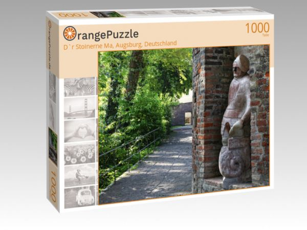 "Puzzle Motiv ""D`r Stoinerne Ma, Augsburg, Deutschland"" - Puzzle-Schachtel zu 1000 Teile Puzzle"