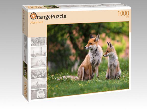 """Puzzle Motiv """"Abschied"""" - Puzzle-Schachtel zu 1000 Teile Puzzle"""