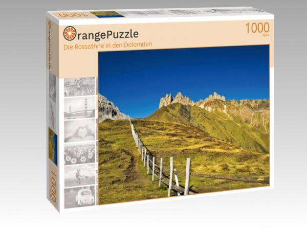 """Puzzle Motiv """"Die Rosszähne in den Dolomiten"""" - Puzzle-Schachtel zu 1000 Teile Puzzle"""
