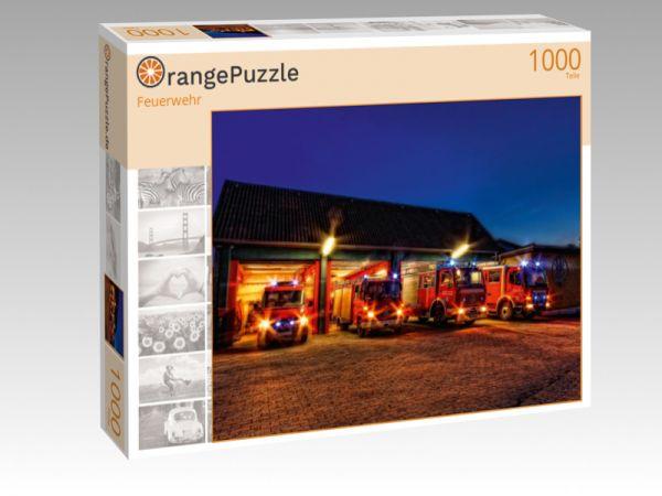 """Puzzle Motiv """"Feuerwehr"""" - Puzzle-Schachtel zu 1000 Teile Puzzle"""