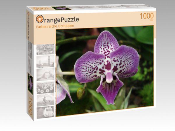 "Puzzle Motiv ""Farbenreiche Orchideen"" - Puzzle-Schachtel zu 1000 Teile Puzzle"