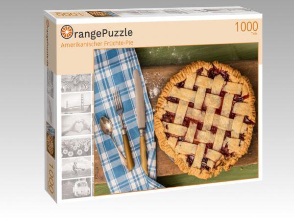 """Puzzle Motiv """"Amerikanischer Früchte-Pie"""" - Puzzle-Schachtel zu 1000 Teile Puzzle"""