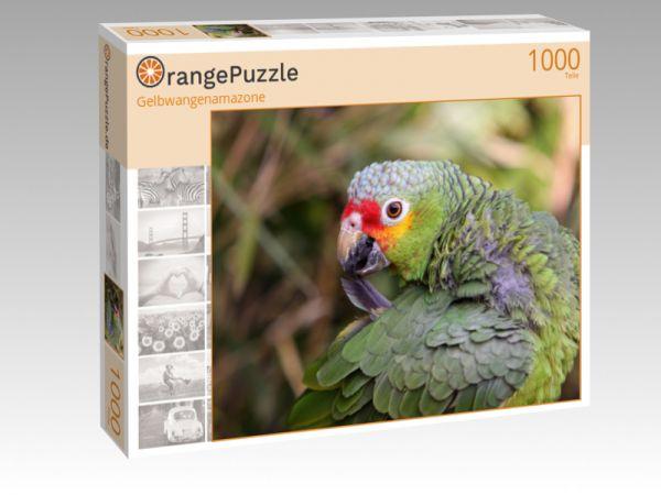 "Puzzle Motiv ""Gelbwangenamazone"" - Puzzle-Schachtel zu 1000 Teile Puzzle"