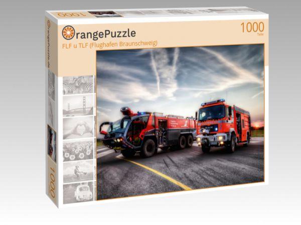 """Puzzle Motiv """"FLF u TLF (Flughafen Braunschweig)"""" - Puzzle-Schachtel zu 1000 Teile Puzzle"""