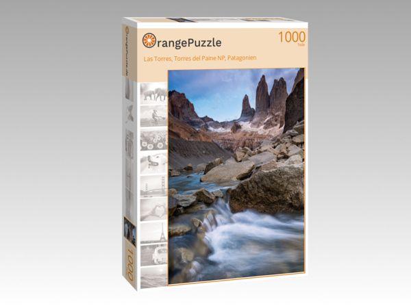 """Puzzle Motiv """"Las Torres, Torres del Paine NP, Patagonien"""" - Puzzle-Schachtel zu 1000 Teile Puzzle"""