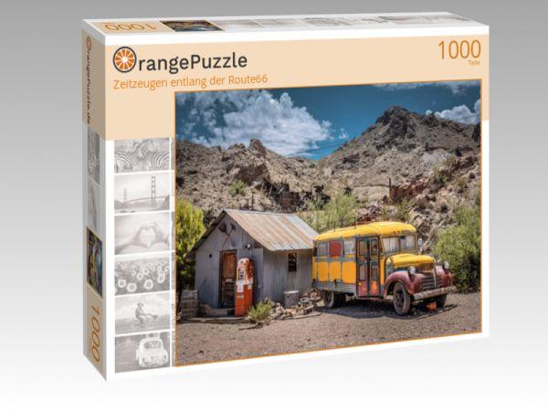 """Puzzle Motiv """"Zeitzeugen entlang der Route66"""" - Puzzle-Schachtel zu 1000 Teile Puzzle"""