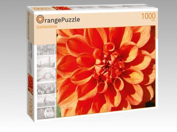 """Puzzle Motiv """"Dahlienblüte"""" - Puzzle-Schachtel zu 1000 Teile Puzzle"""