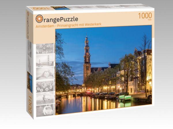 """Puzzle Motiv """"Amsterdam - Prinsengracht mit Westerkerk"""" - Puzzle-Schachtel zu 1000 Teile Puzzle"""