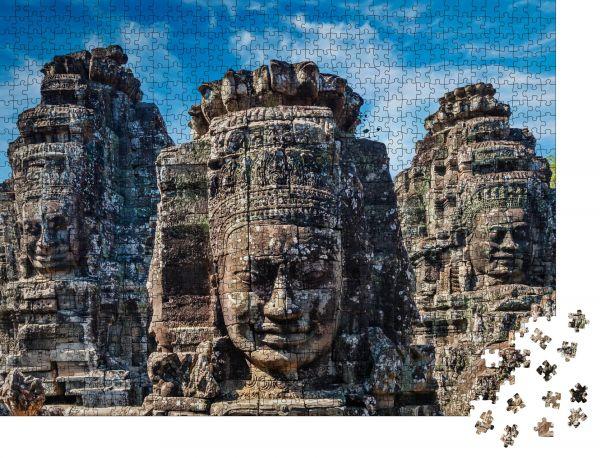 """Puzzle-Motiv """"Alte Steinplatten des Bayon-Tempels, Angkor, Kambodscha"""" - Puzzle-Schachtel zu 1000 Teile Puzzle"""