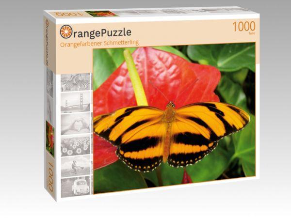 """Puzzle Motiv """"Orangefarbener Schmetterling"""" - Puzzle-Schachtel zu 1000 Teile Puzzle"""