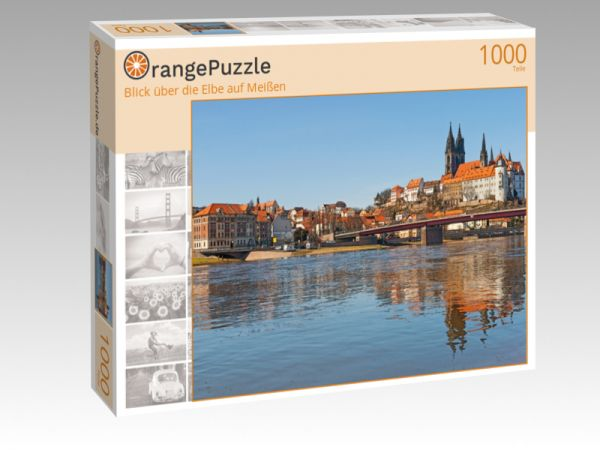 """Puzzle Motiv """"Blick über die Elbe auf Meißen"""" - Puzzle-Schachtel zu 1000 Teile Puzzle"""