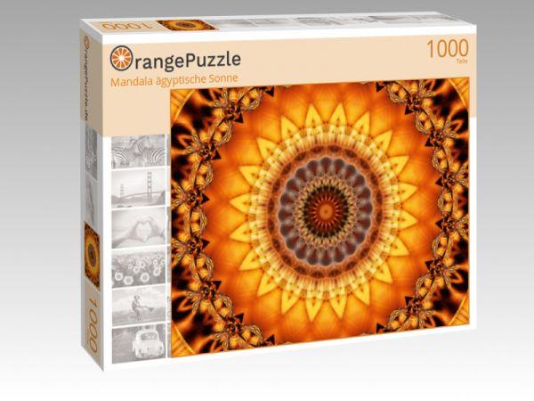 """Puzzle Motiv """"Mandala ägyptische Sonne"""" - Puzzle-Schachtel zu 1000 Teile Puzzle"""