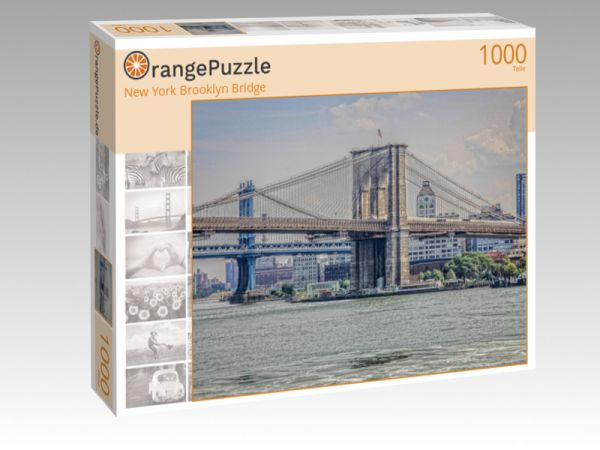 "Puzzle Motiv ""New York Brooklyn Bridge"" - Puzzle-Schachtel zu 1000 Teile Puzzle"