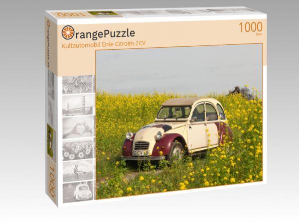 """Puzzle Motiv """"Kultautomobil Ente Citroën 2CV"""" - Puzzle-Schachtel zu 1000 Teile Puzzle"""
