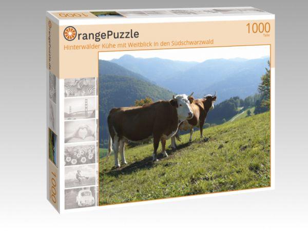 """Puzzle Motiv """"Hinterwälder Kühe mit Weitblick in den Südschwarzwald"""" - Puzzle-Schachtel zu 1000 Teile Puzzle"""