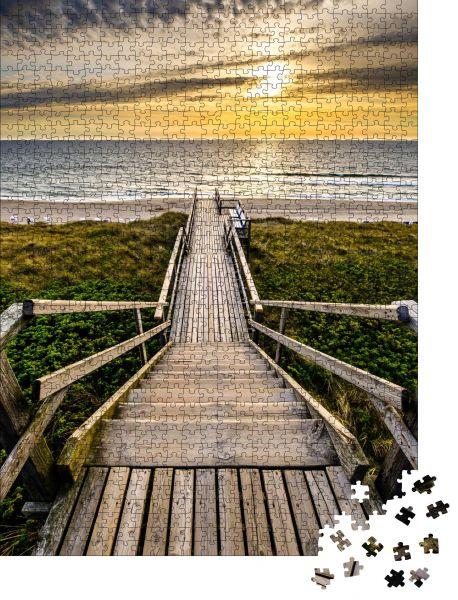 "Puzzle-Motiv ""Weg an den Dünen - Sylt - Nordsee"" - Puzzle-Schachtel zu 1000 Teile Puzzle"