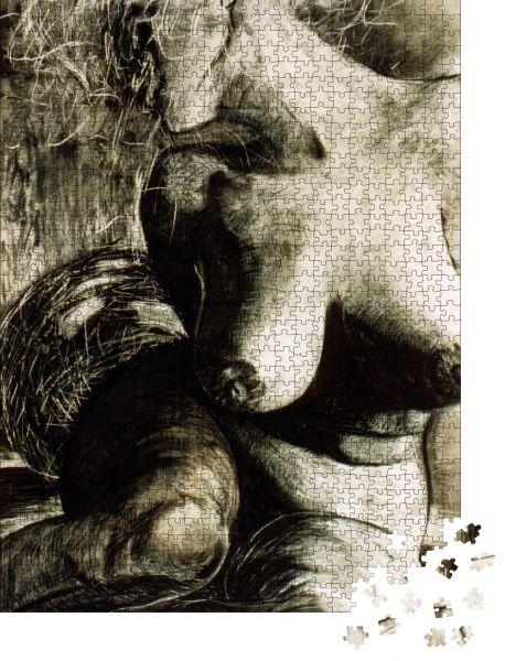 """Puzzle-Motiv """"Entspannung der Frau - Ich bin Autor dieses Bildes, Person ist nicht vorhanden"""" - Puzzle-Schachtel zu 1000 Teile Puzzle"""