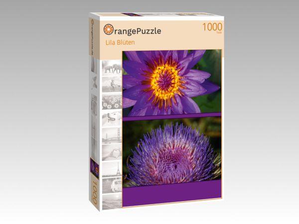 """Puzzle Motiv """"Lila Blüten"""" - Puzzle-Schachtel zu 1000 Teile Puzzle"""