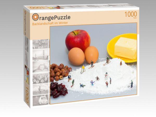 "Puzzle Motiv ""Backlandschaft im Winter"" - Puzzle-Schachtel zu 1000 Teile Puzzle"