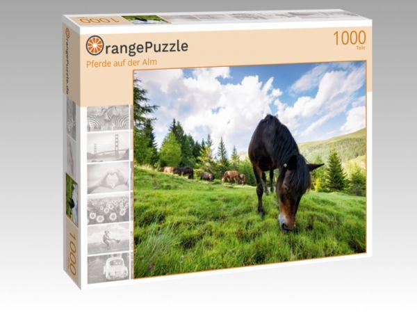 """Puzzle Motiv """"Pferde auf der Alm"""" - Puzzle-Schachtel zu 1000 Teile Puzzle"""