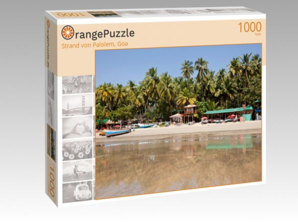 "Puzzle Motiv ""Strand von Palolem, Goa"" - Puzzle-Schachtel zu 1000 Teile Puzzle"