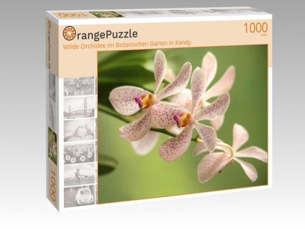 """Puzzle Motiv """"Wilde Orchidee im Botanischen Garten in Kandy."""" - Puzzle-Schachtel zu 1000 Teile Puzzle"""