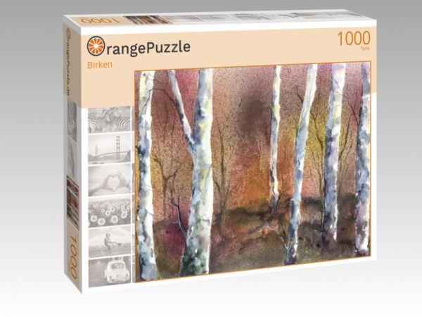 "Puzzle Motiv ""Birken"" - Puzzle-Schachtel zu 1000 Teile Puzzle"
