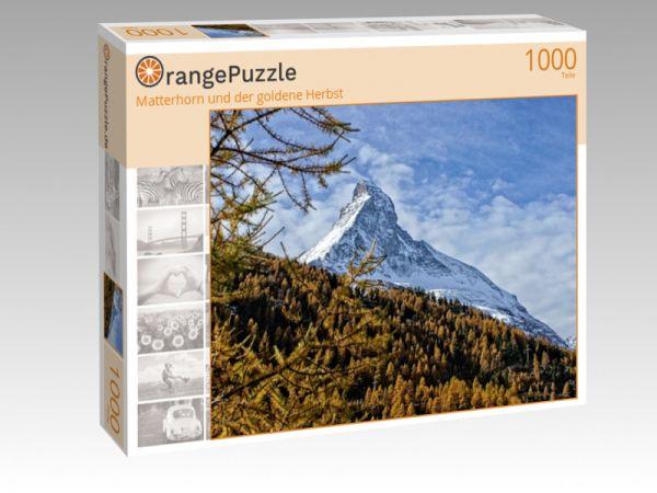 """Puzzle Motiv """"Matterhorn und der goldene Herbst"""" - Puzzle-Schachtel zu 1000 Teile Puzzle"""