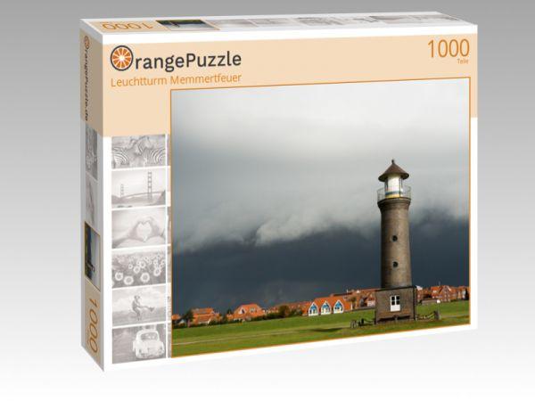 """Puzzle Motiv """"Leuchtturm Memmertfeuer"""" - Puzzle-Schachtel zu 1000 Teile Puzzle"""