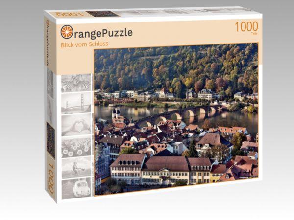 "Puzzle Motiv ""Blick vom Schloss"" - Puzzle-Schachtel zu 1000 Teile Puzzle"