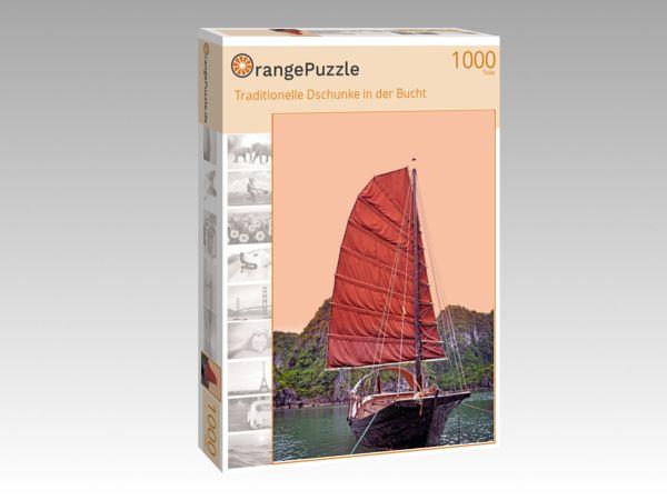 """Puzzle Motiv """"Traditionelle Dschunke in der Bucht"""" - Puzzle-Schachtel zu 1000 Teile Puzzle"""