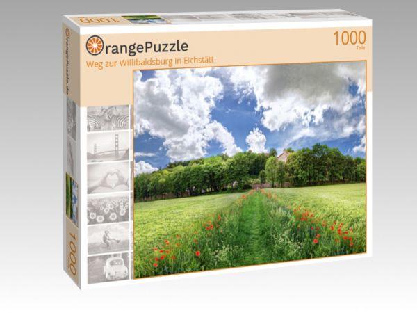 """Puzzle Motiv """"Weg zur Willibaldsburg in Eichstätt"""" - Puzzle-Schachtel zu 1000 Teile Puzzle"""