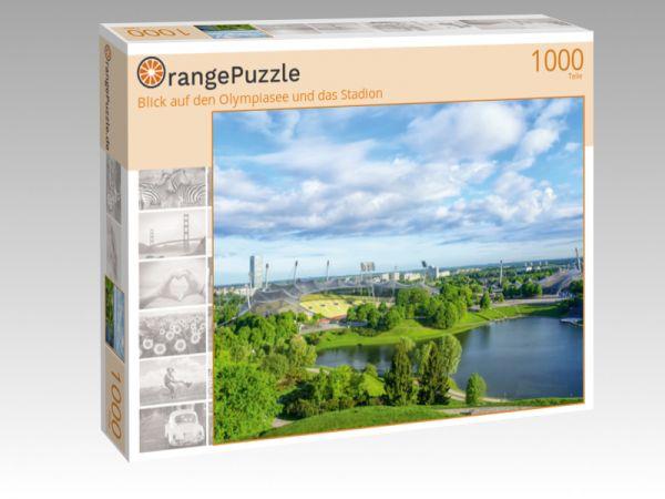 """Puzzle Motiv """"Blick auf den Olympiasee und das Stadion"""" - Puzzle-Schachtel zu 1000 Teile Puzzle"""