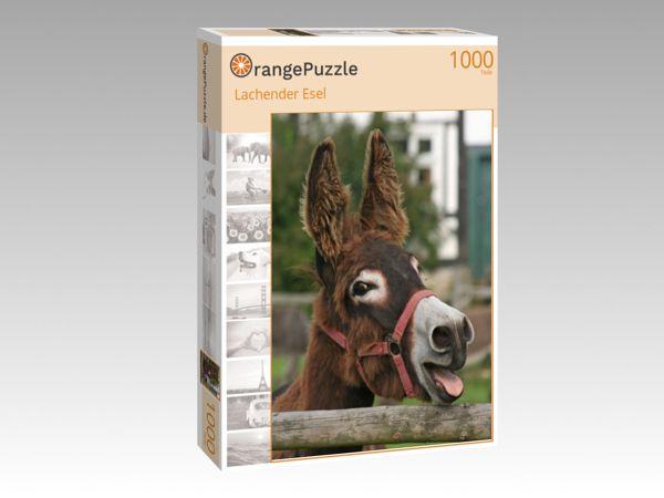 """Puzzle Motiv """"Lachender Esel"""" - Puzzle-Schachtel zu 1000 Teile Puzzle"""