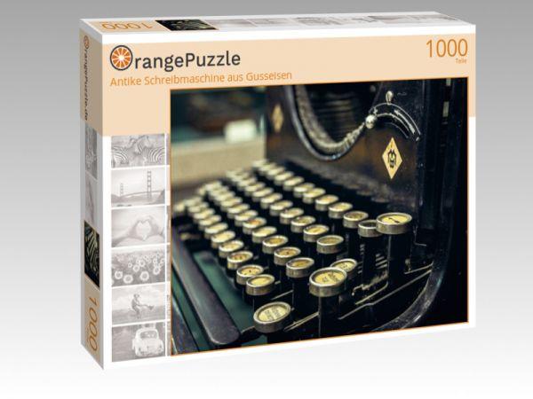 """Puzzle Motiv """"Antike Schreibmaschine aus Gusseisen"""" - Puzzle-Schachtel zu 1000 Teile Puzzle"""
