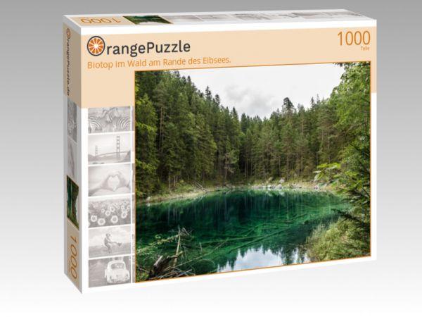 "Puzzle Motiv ""Biotop im Wald am Rande des Eibsees."" - Puzzle-Schachtel zu 1000 Teile Puzzle"
