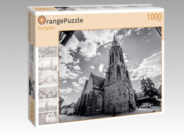 """Puzzle Motiv """"Kirchplatz"""" - Puzzle-Schachtel zu 1000 Teile Puzzle"""