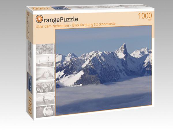 """Puzzle Motiv """"Über dem Nebelmeer - Blick Richtung Stockhornkette"""" - Puzzle-Schachtel zu 1000 Teile Puzzle"""