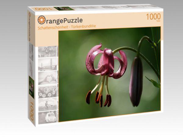 """Puzzle Motiv """"Schattenschönheit - Türkenbundlilie"""" - Puzzle-Schachtel zu 1000 Teile Puzzle"""