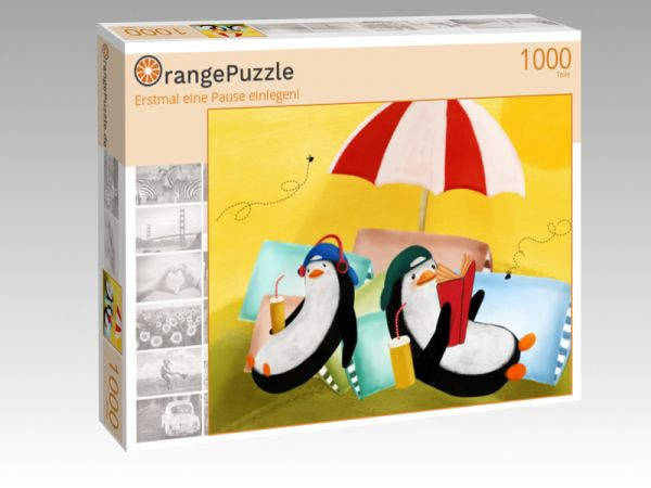 """Puzzle Motiv """"Erstmal eine Pause einlegen!"""" - Puzzle-Schachtel zu 1000 Teile Puzzle"""