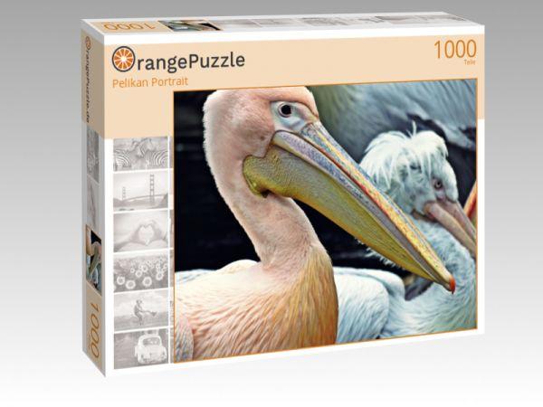 """Puzzle Motiv """"Pelikan Portrait"""" - Puzzle-Schachtel zu 1000 Teile Puzzle"""