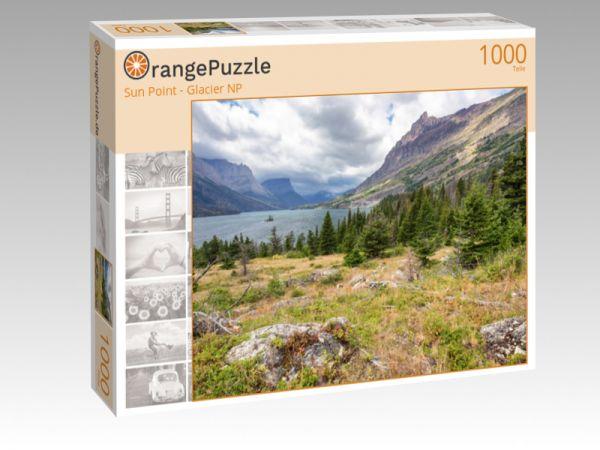 """Puzzle Motiv """"Sun Point - Glacier NP"""" - Puzzle-Schachtel zu 1000 Teile Puzzle"""