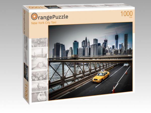 """Puzzle Motiv """"New York City Taxi"""" - Puzzle-Schachtel zu 1000 Teile Puzzle"""