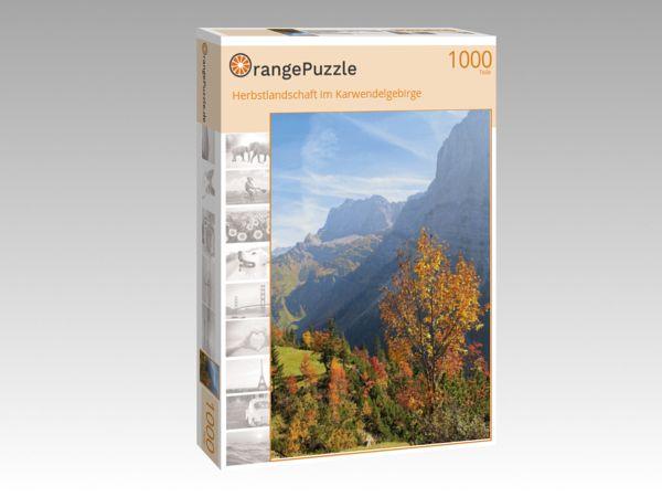 """Puzzle Motiv """"Herbstlandschaft im Karwendelgebirge"""" - Puzzle-Schachtel zu 1000 Teile Puzzle"""