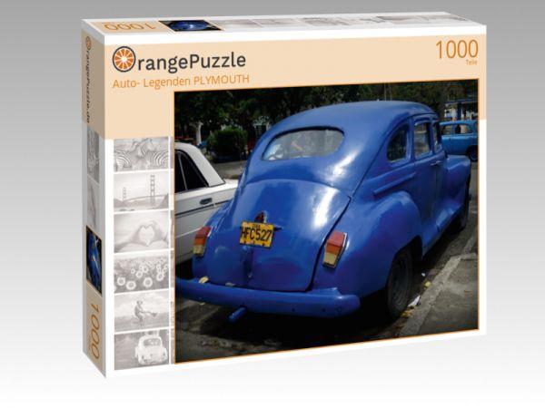"""Puzzle Motiv """"""""Auto- Legenden PLYMOUTH"""""""" - Puzzle-Schachtel zu 1000 Teile Puzzle"""