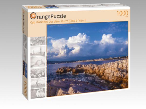"""Puzzle Motiv """"Cap d'Antibes vor dem Sturm (Cote d`Azur)"""" - Puzzle-Schachtel zu 1000 Teile Puzzle"""