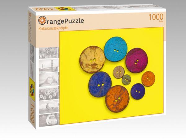 "Puzzle Motiv ""Kokosnussknöpfe"" - Puzzle-Schachtel zu 1000 Teile Puzzle"